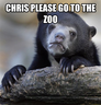 chris please go to the zoo