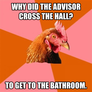 Advisor cross the road