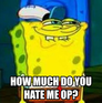 HOW MUCH DO YOU HATE ME OP?